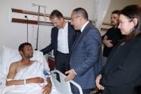 SİİRT VALİSİ - Siirt Valisi Atik Yaralı Korucuları Ziyaret Etti