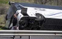 İTFAİYE ARACI - Bulgaristan'da Otobüs Kazası Açıklaması 10 Ölü