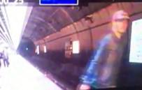 İNTİHAR SAHNESİ - Marmaray'da trenin önüne böyle atladı