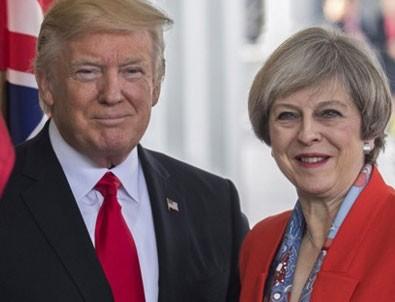 Trump, May ile Suriye'yi görüştü
