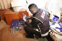 Aksaray'da Yüzlerce Şişe Sahte İçki Ele Geçirildi