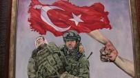 GAZİ YAKINLARI - Ressamın Kurgu İçin Afrin'den İstediği Fotoğraf Gerçek Oldu