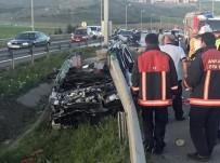 GÜLHANE - Bariyere Saplanan Otomobilden Sağ Çıktı