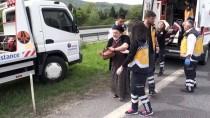 Anadolu Otoyolu'nda Midibüs Devrildi Açıklaması 5 Yaralı