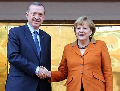Cumhurbaşkanı Erdoğan Merkel ile görüştü