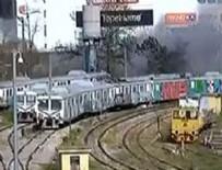 HAYDARPAŞA GARı - Haydarpaşa Garı'ndaki boş vagonlarda yangın