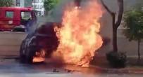 YANGINA MÜDAHALE - Kontağı Çevirdiği Sırada Otomobil Alev Alev Yandı