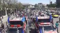 KİMYASAL SALDIRI - Şam'da Esad'ı Destekleyen Gösteriler