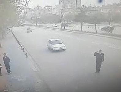 Vali'ye selam veren polis hayatının şokunu yaşadı