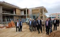 UĞUR İBRAHIM ALTAY - Başkan Altay, Buhara Mahalle Konağı İnşaatında İncelemelerde Bulundu