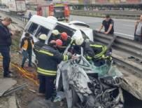 TEM OTOYOLU - Dilovası'nda TIR ile minibüs çarpıştı, vali ve kaymakamların eşleri yaralandı