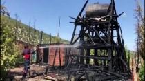 REHABİLİTASYON MERKEZİ - Burdur'da Lisinia Yaban Hayatı Rehabilitasyon Merkezinde Yangın