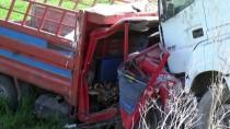 ALI EKBER - Çorum'da Tır İle Kamyonet Çarpıştı Açıklaması 1 Ölü, 4 Yaralı