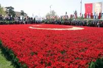ORHAN KURAL - Dünyanın En Büyük Türk Bayrağı Temalı Lale Peyzajı Rekorlar Kitabı'na Girdi