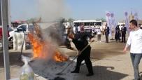 Festival İçin Pişirilmeye Çalışılan 200 Kiloluk Dana Alev Alev Yandı