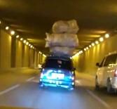 KANBER - Aşırı Yükle Trafikte İlerleyen Araçların İlginç Görüntüleri