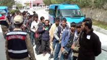 KAÇAK GÖÇMEN - Erzincan'da 58 Kaçak Göçmen Yakalandı