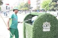 Karesi'de Çöp Konteynerleri Yeşillendi
