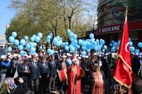 ADAPAZARı KÜLTÜR MERKEZI - Sakarya'da Otizme Dikkat Çekmek İçin Mavi Balonlarla Yürüdüler