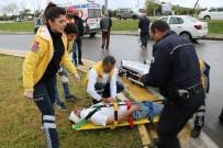 Samsun'da Trafik Kazası Açıklaması 2 Yaralı