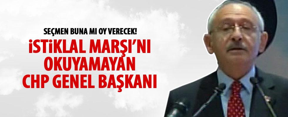 Kılıçdaroğlu'ndan İstiklal Marşı'nda büyük hata
