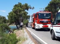 Kontrolden Çıkan Araç Sahile Uçtu Açıklaması 3 Yaralı