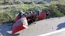 Kütahya'da Otomobil Şarampole Devrildi Açıklaması 1 Ölü