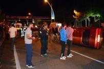 Karşı Şeride Geçti 3 Otomobile Çarptı Açıklaması 1 Ölü, 3 Yaralı