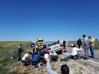 Kırşehir'e Düğün Yolunda Kaza Açıklaması 10 Yaralı