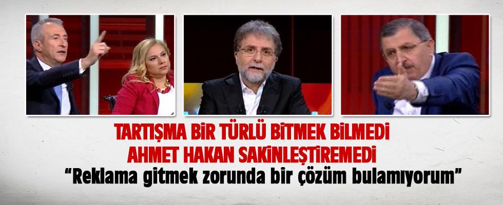 Ahmet Hakan'ın canlı yayındaki zor anları