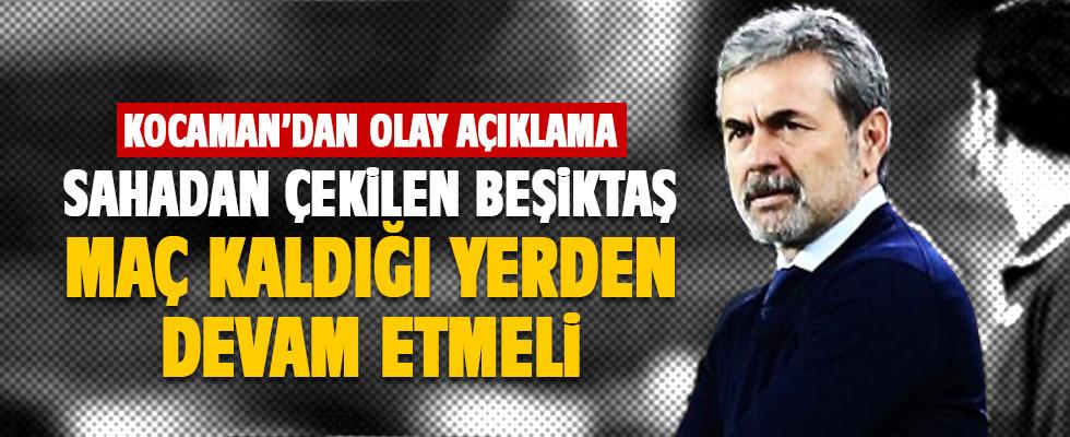 Kocaman: Sahadan çekilen takım Beşiktaş!