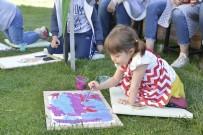 RESIM SERGISI - Minik Yüreklerden 23 Nisan'a Özel Resim Sergisi
