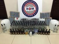 İÇKİ ŞİŞESİ - Evde Sahte İçki İmalatına Polis Baskını
