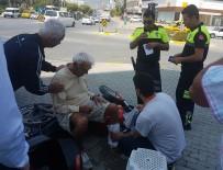 TOSMUR - Motosikletin Altında Kalan Yaşlı Adam Yaralandı
