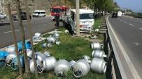 SAĞLIK PERSONELİ - Samsun'da Tüp Yüklü Kamyonet Kamyonla Çarpıştı Açıklaması 2 Yaralı