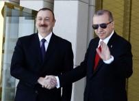 MEVLÜT ÇAVUŞOĞLU - Cumhurbaşkanı Erdoğan, İlham Aliyev'i Resmi Törenle Karşıladı
