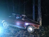 Kontrolden Çıkan Otomobil Ağaca Çarptı Açıklaması 1 Yaralı