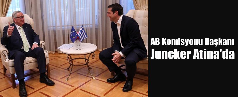 AB Komisyonu Başkanı Juncker Atina'da
