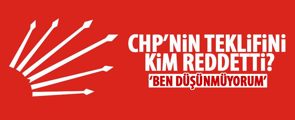 CHP'yi kim reddetti?