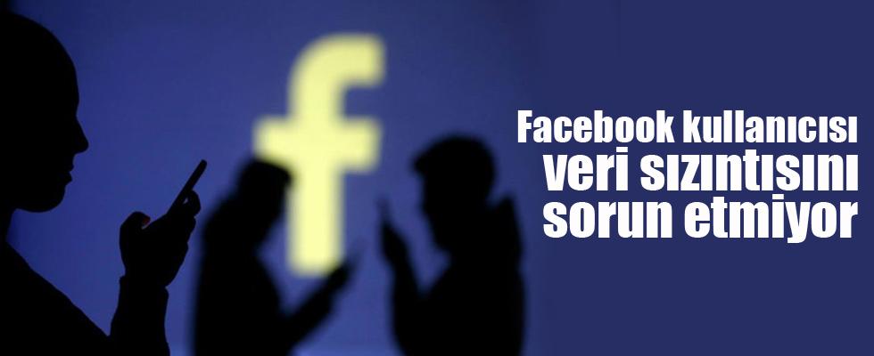 Facebook kullanıcısı veri sızıntısını sorun etmiyor