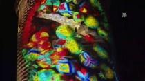 GALATA KULESI - Galata Kulesi, Video Mappingle Renklendirildi