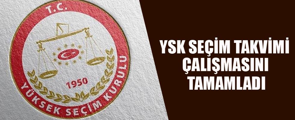 YSK seçim takvimi çalışmasını tamamladı