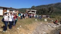 İNSAN ZİNCİRİ - 2 Kez Mühürlenmesine Rağmen Devam Eden Kaçak İnşaata İnsan Zincirli Eylem
