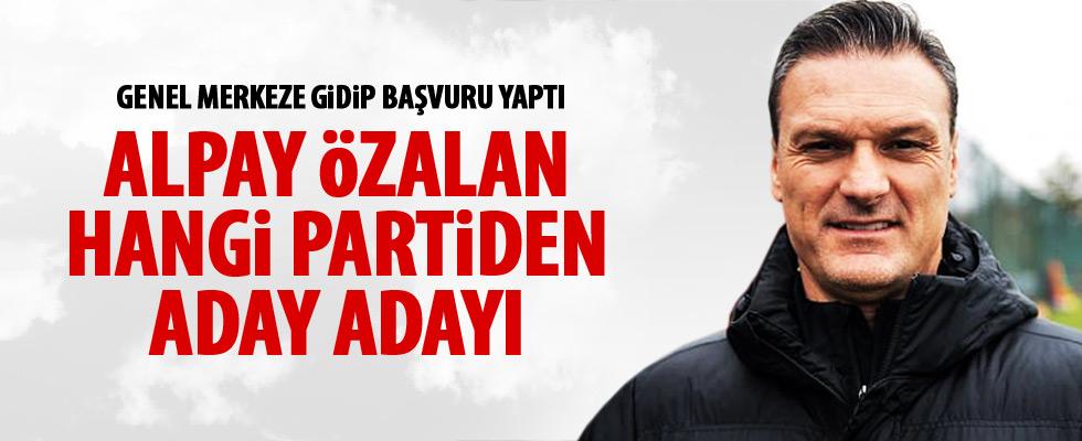 Alpay Özalan, AK Parti'den aday adayı oldu