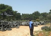 VARSAK - Antalya'da Ormanlık Alana Araç Lastiği Bırakan 4 Kişi Yakalandı