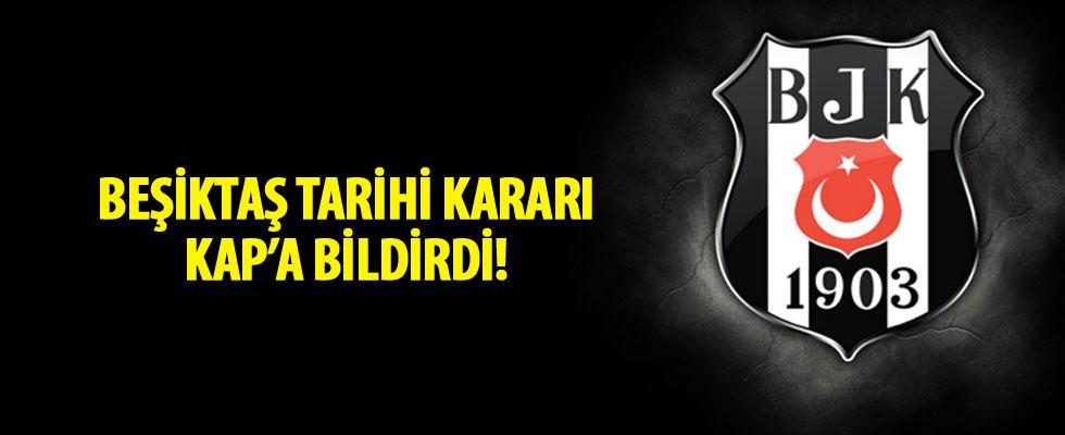 Beşiktaş, Fenerbahçe maçına çıkmayacağı KAP'a bildirdi