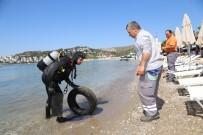 BITEZ - Bitez'de Deniz Dibi Temizliği