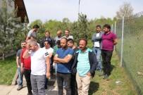 TAŞERON İŞÇİ - Bolu'da Karayolları Taşeron İşçilerinden İş Bırakma Eylemi
