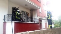 MUTFAK TÜPÜ - Gaz Kaçıran Tüpü Çakmakla Kontrol Edince Evi Yakıyordu