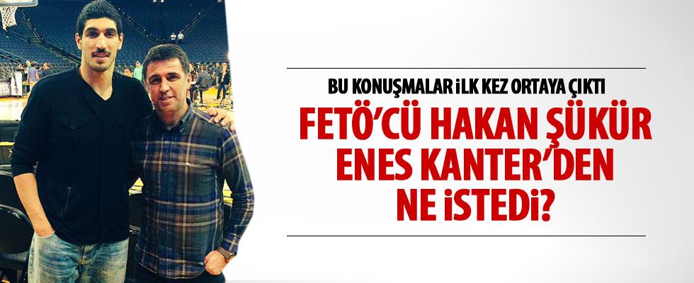 Hakan Şükür ile Enes Kanter'in konuşması